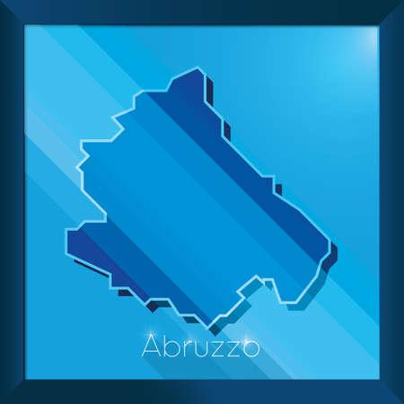abruzzo map Ilustração