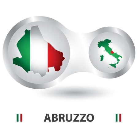 abruzzo map Illusztráció