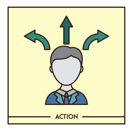 Actie Stock Illustratie