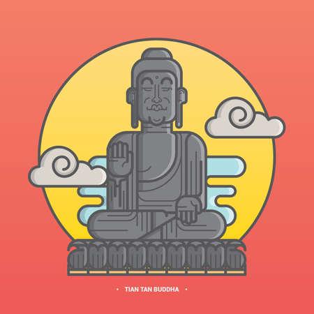 tian タン仏  イラスト・ベクター素材