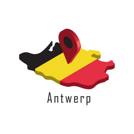 antwerp map with map pointer