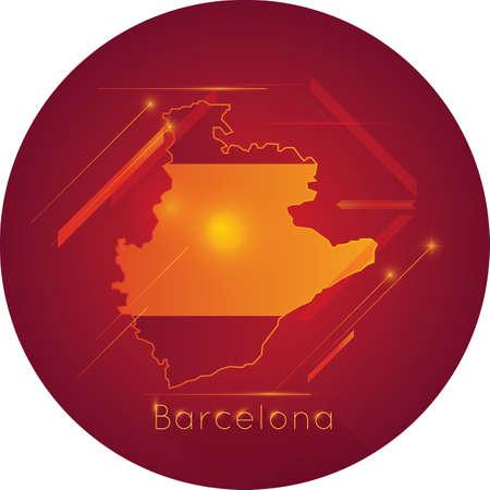 Carte de barcelone Banque d'images - 81590039