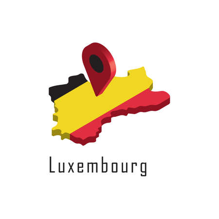 luxembourg map with map pointer