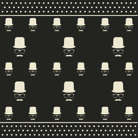 gentleman pattern Illustration