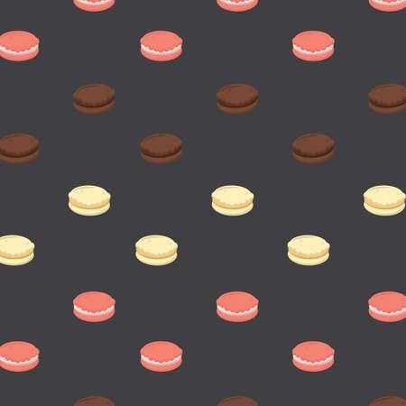 background with macaron Illustration
