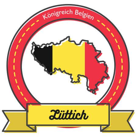liittich map label  イラスト・ベクター素材