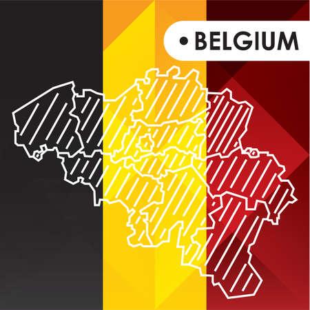 Belgium map 向量圖像