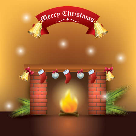 Merry christmas background 向量圖像