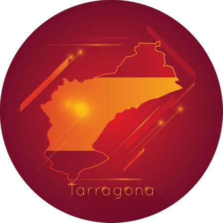 Tarragona map Ilustração