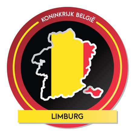 limburg map sticker
