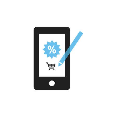 mobile shopping Illusztráció
