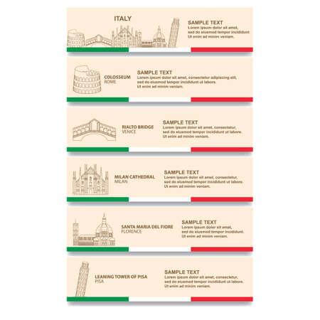 Conjunto de banderas de Italia Foto de archivo - 81590034