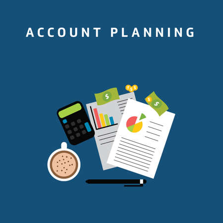 account planning Illustration