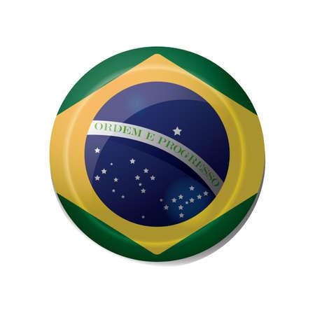 brazil flag icon Illusztráció