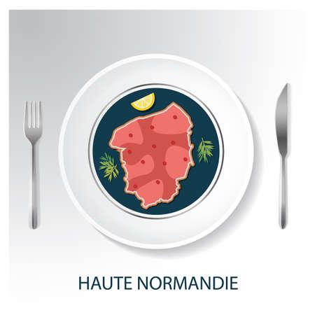Haute normandie map