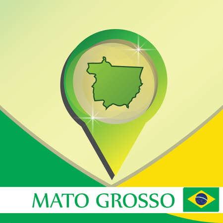 mato grosso state map pointer