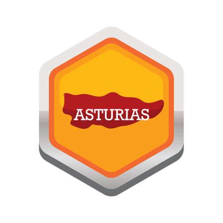 Mapa asturias Foto de archivo - 81535871