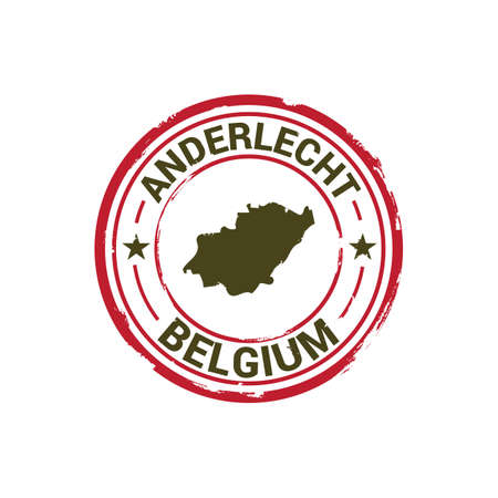 anderlecht map stamp Ilustrace