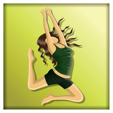 woman dancing Ilustração