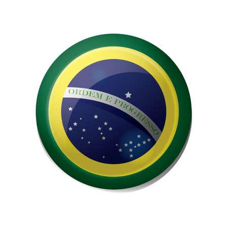 brazil flag icon Иллюстрация