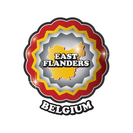 east-flanders map label
