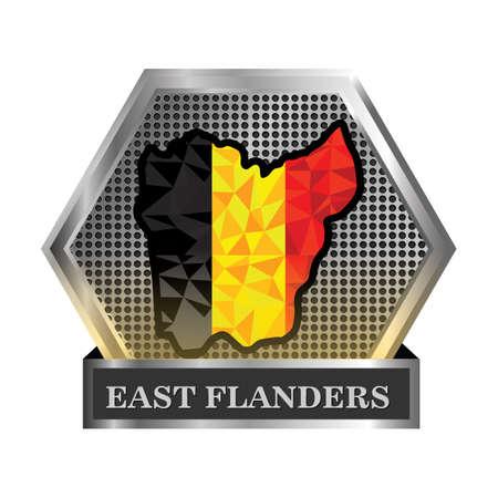 east-flanders map 向量圖像