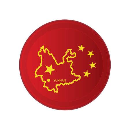 yunnan map 向量圖像