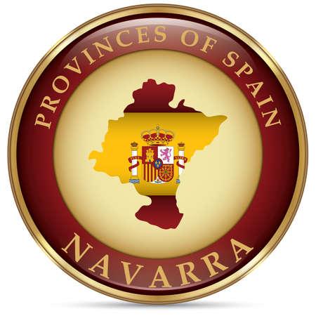 navarra map Ilustração