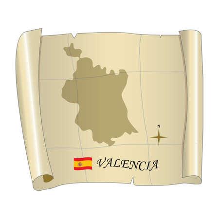 バレンシア地図 写真素材 - 81590283