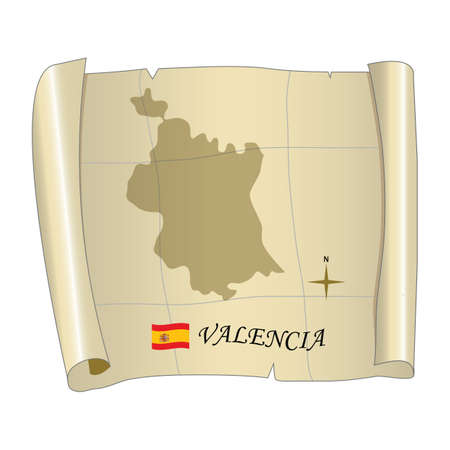 valencia map Banco de Imagens - 81590283