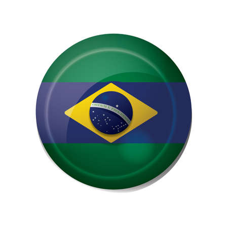 brazil flag icon  イラスト・ベクター素材