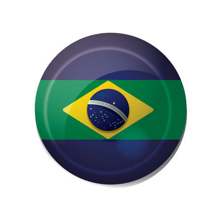 brazil flag icon Фото со стока - 106669560