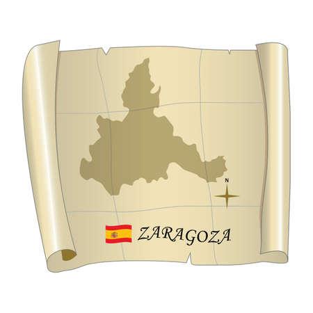 Zaragoza map Banco de Imagens - 81601307