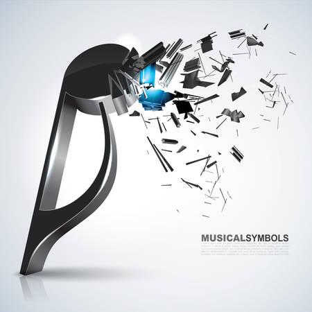 Quaver muziek symbool Stockfoto - 81485017