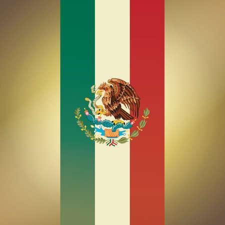 メキシコ旗の背景