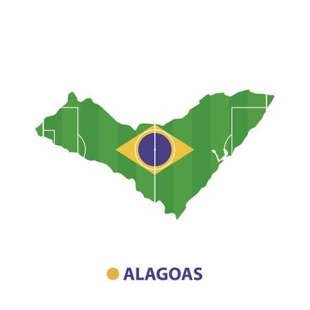 alagoas state map Illusztráció