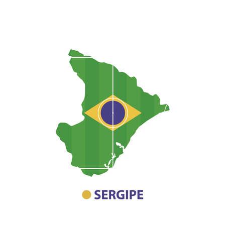 sergipe state map Illusztráció