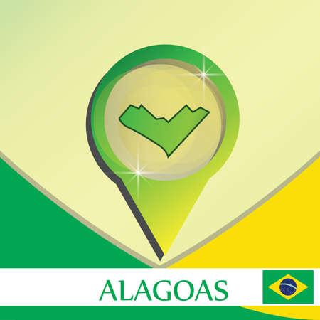 alagoas state map pointer