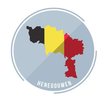 henegoiwen map  イラスト・ベクター素材