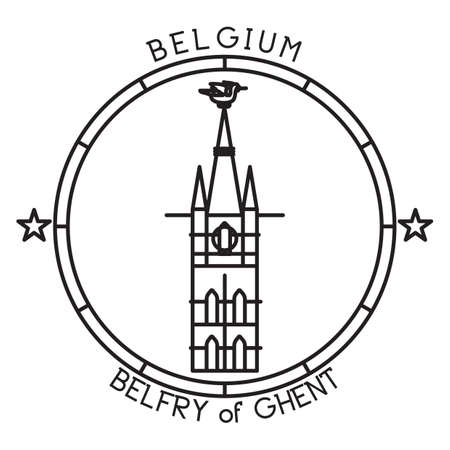 belfey of ghent 矢量图像