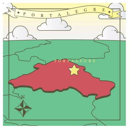 portalegre map 向量圖像