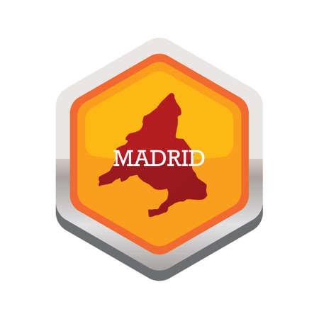 マドリード地図  イラスト・ベクター素材