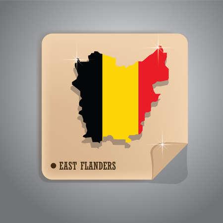 east flanders map sticker