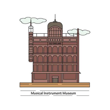 museo de instrumentos musicales Ilustración de vector