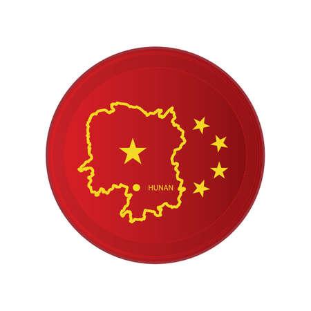 hunan map  イラスト・ベクター素材