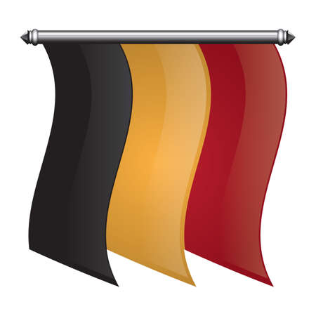 banderín de la bandera de bélgica
