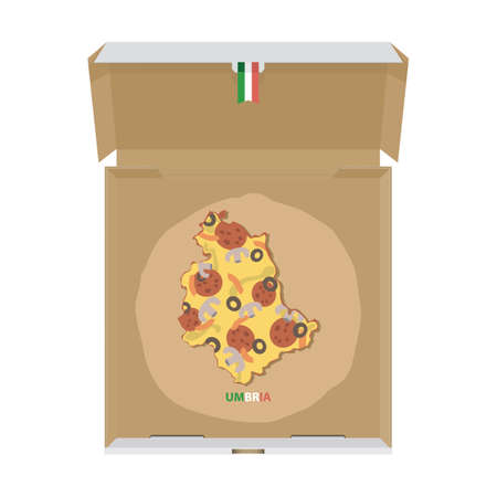 Pizza in shape of umbria map