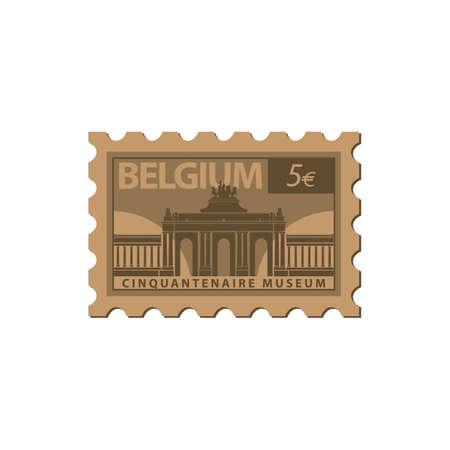 cinquantenaire museum postal stamp