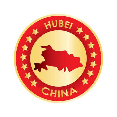 hubei map Ilustração