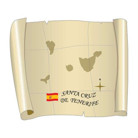 Santa de cruz tenerife map